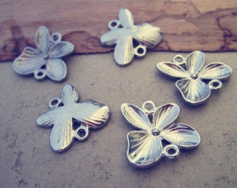 12pcsWhite k butterfly Charms pendant  20mm
