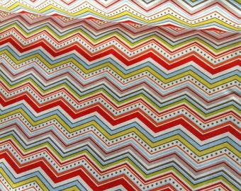 Boys Chevron fabric on Cream by Riley Blake