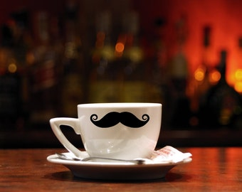 Set of 48 Mustache Decals Great for mugs and glass cups