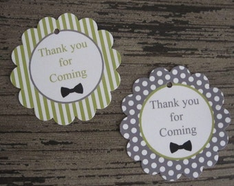 Little Man Party ~Favor Tags ~ Thank You Tags ~ Gift Tags ~ Set of 12