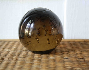 Vintage glass paperweight, 2 available