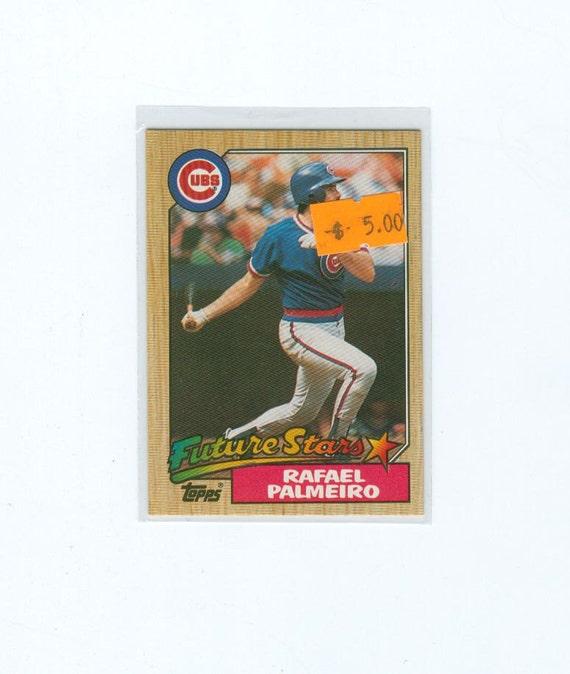 Vintage Baseball Card 1987 Rafael Palmeiro 634 Rookie Card