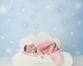 5ft x 5ft + Photography Backdrop - Starry Backdrop, Star Backdrop, Sky Backdrop, Stars Backdrop