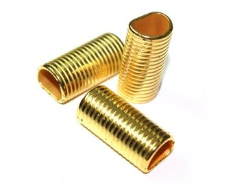 5 PCS of Gold  Tube Links Supplies for Crafts and Jewelry Making