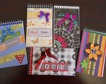 Assorted Mini Spiral Note Books - Price Each