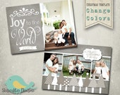 Christmas Card PHOTOSHOP TEMPLATE - Family Christmas Card 93