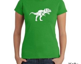 Women's T-shirt - Tyrannosaurus Rex - Created using popular Dinosaur Name