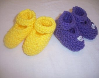 Newborn Baby Girl Knitted Booties