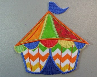 Iron on or sew on applique or patch of  a Circus tent