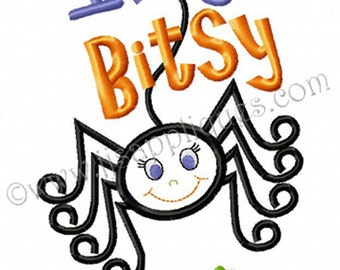 Halloween Embroidery Applique Design - Itsy Bitsy Cutie for the 4x4, 5x7, 6x10 hoops sizes - Instant Download