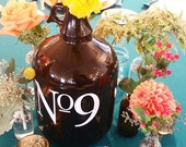 Wedding Table Number Decal,Glass Growler Decal, Custom Table Number, Reception Decor,Rustic Wedding Number, DIY Wedding, Vintage Wedding