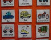 Transportation Felt Board Pieces, Transportation Felt Set, Felt Toy, Preschool Learning, Kids Educational Toys, Montessori Toddler
