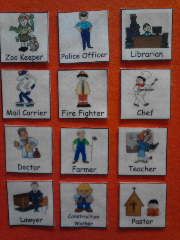 community helpers felt board set preschool learning toddler