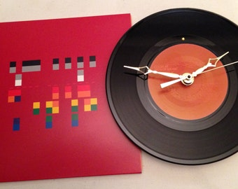 "Recycled COLDPLAY 7"" Record with Picture Sleeve / Speed Of Sound / Record Clock"