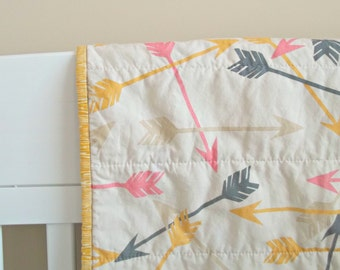 Arrow Baby Quilt - Crib Quilt - Baby Blanket