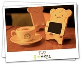 DIY Zakka Retro Wooden Phone Stand - Monkey