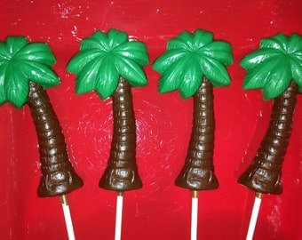 Palm Tree Chocolate Lollipops