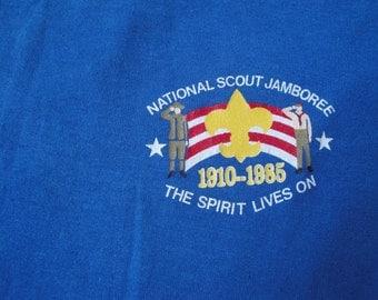 Vintage Boy Scouts Jamboree 1985 Tshirt