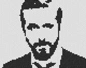 PATTERN: Ryan Gosling Cross Stitch
