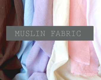 Muslin Cotton Gauze Fabric by the Yard(s)