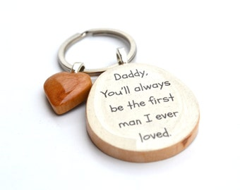 Dad keychain Gift for men mens keychain gift for dad father gift father and daughter gifts from daughter starlight woods