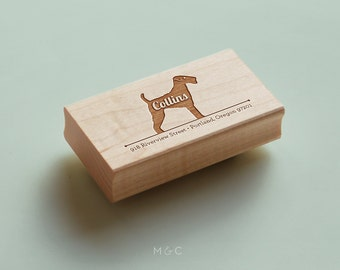 Airedale Terrier - Personalized Stamp