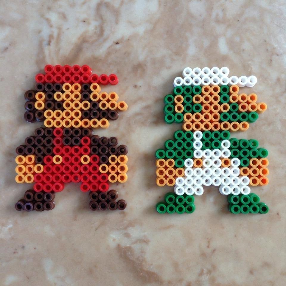 Original Beads: Perler Bead Mario And Luigi Original Super Mario By