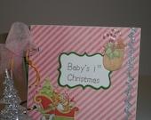 Baby's First Christmas Keepsake Book