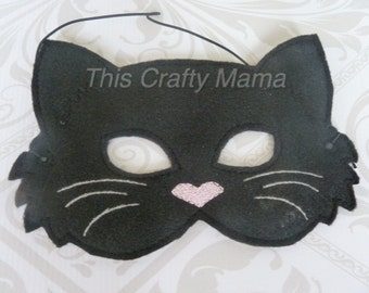 Felt Black Cat Mask