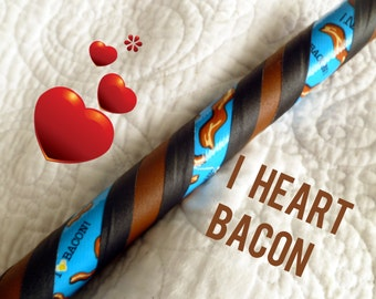 I Heart Bacon Dance & Exercise Hula Hoop COLLAPSIBLE or Push Button pork yummy