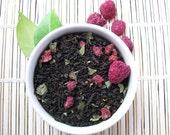 Raspberry Tea / Organic Black Tea / Hand Blended / Loose  Leaf