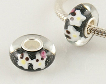 1 Bead - Girl Boy Star Love Sterling Silver Core .925 Lampwork European Bead Charm GJ5036 LC0032