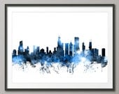 Chicago Skyline, Chicago Illinois Cityscape Art Print (1114)
