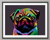 Pug Dog, Art Print (1278)