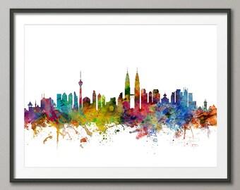 Kuala Lumpur Skyline, Kuala Lumpur  Malaysia CityscapeArt Print (1317)