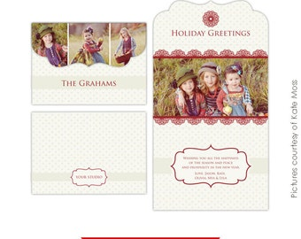 5x7 Folded Luxe Card Template - Fall is coming - E195