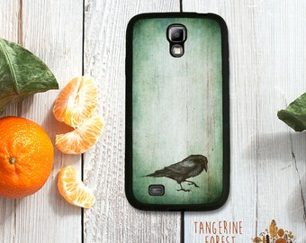 Dark, Grunge Raven Case. Choose Samsung Galaxy S4 / S5 / S6