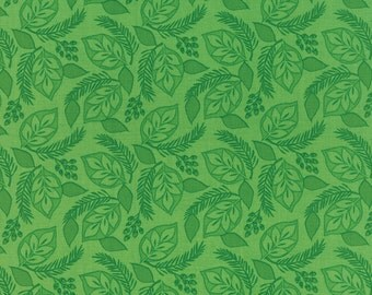 1/2 Yard - SOLSTICE  Evergreen Laural by Kate Spain for Moda Quilt Fabrics.