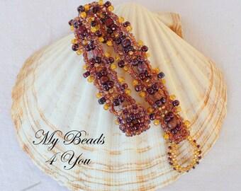 Seed Bead Bracelet, Embellished Bracelet, Beaded Bracelet, Beaded Jewelry, Beadwoven Bracelet, Beadwork Bracelet