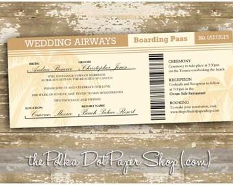 Boarding pass wedding invitation | Etsy