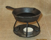 Frying pan t-light tart warmer