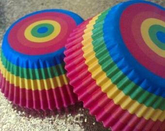 Cupcake Liners Rainbow Rush Limited Supply (50)