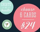 CUSTOM Bundle - Choose any 6 items priced at 8 dollars each