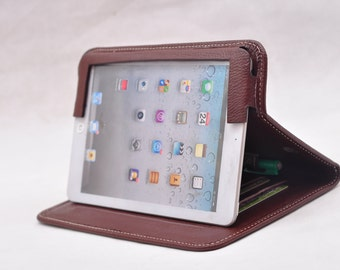 iPad pro case ipad air case ipad mini case  ipad Portfolio Case Leather Apple iPad  Folio Case for iPad Pro 9.7 ipad air2 in coffee