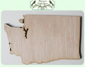 Washington State (Large) Wood Cut Out - Laser Cut