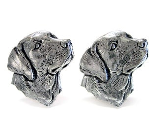Labrador Dog Head Cufflinks