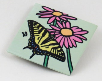 Tiger Swallowtail Butterfly Metal Magnet