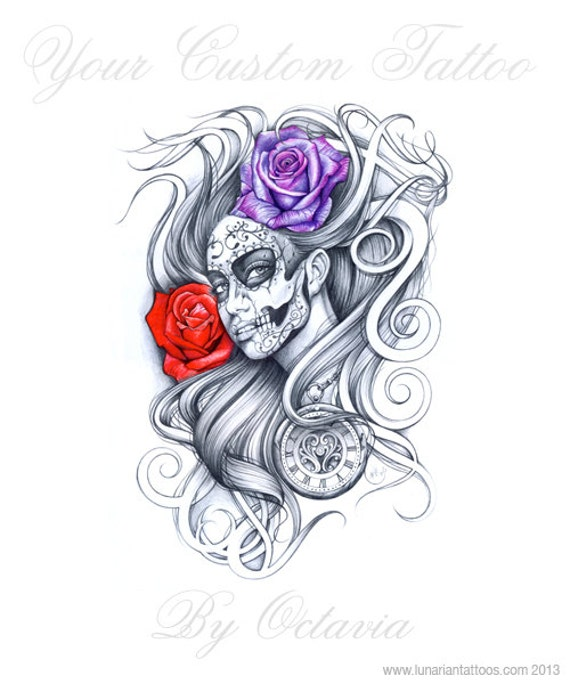 Items Similar To Day Of The Dead Tattoo