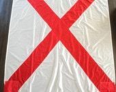 Large vintage ship signal flag