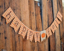 Happy Fall chevron burlap banner